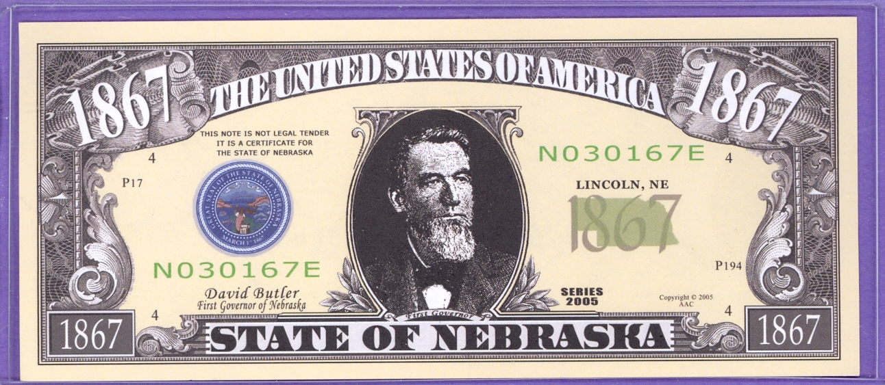 State of Nebraska Novelty or Fantasy Note